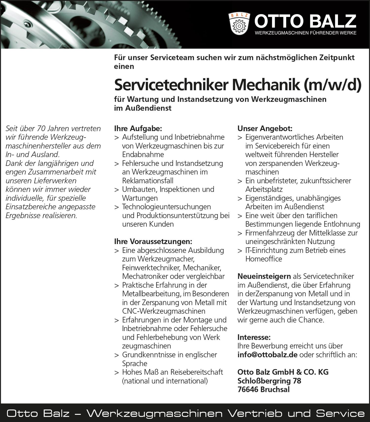 Balz-Stellenanzeige_Servicetechniker-Mechanik